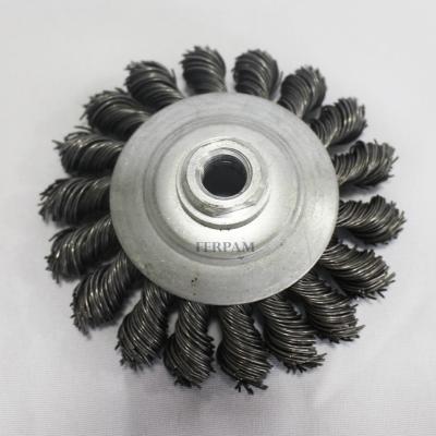 Escova Aço Rotativa tipo Conica 100x100- Ropan