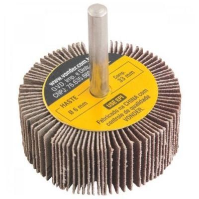 Roda de Lixa 50 x 20 mm Com Haste Grão 36 Vonder 1271502036