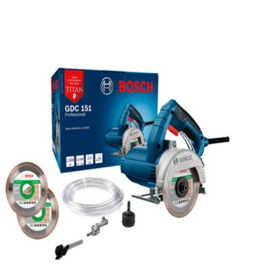 Serra Mármore a úmido GDC 151 TITAN 1500W 220V, Kit de refrigeração e 2 Discos Bosch