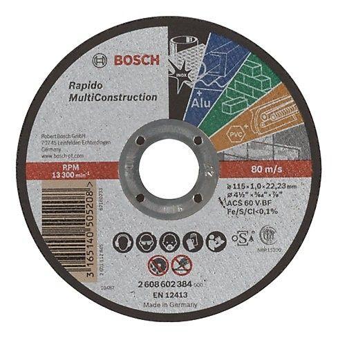 Disco Corte MultiConstrution 115mm- Bosch