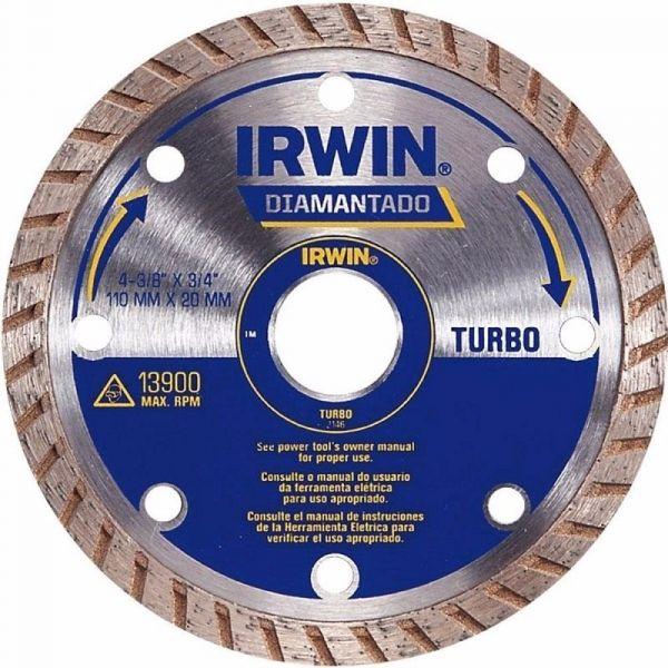 Disco Diamantado Turbo 110x20mm- Irwin