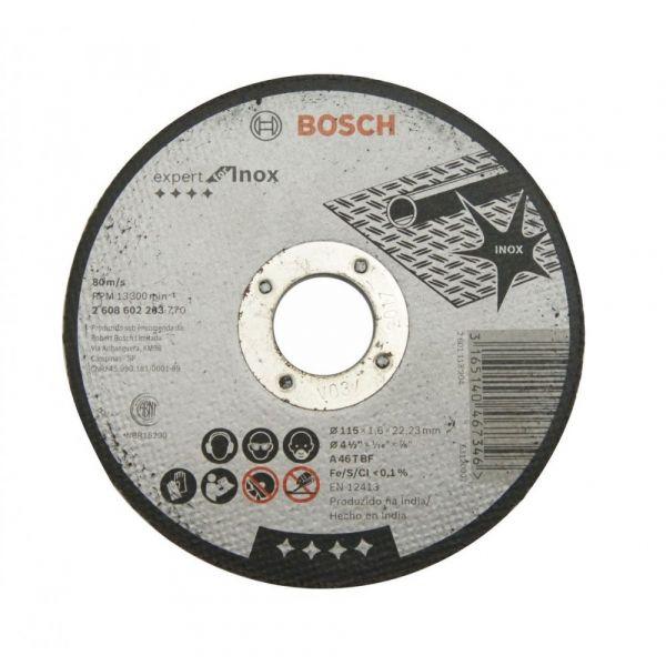 Disco Corte 4 1/2x1/16x7/8 Inox Bosch