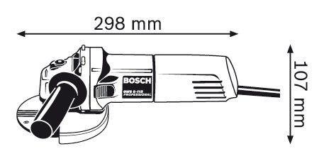 Esmerilhadeira Angular GWS 6-115 4 1/2 220v - Bosch