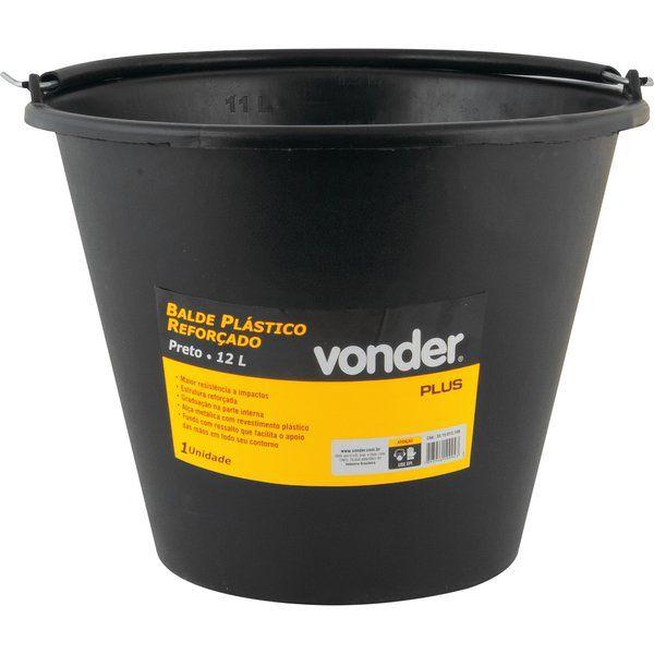 Balde Plastico Reforçado 12L Plus - Vonder