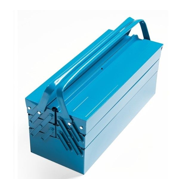 Caixa Sanfonada de Ferramentas Azul Com 5 Gavetas Tramontina