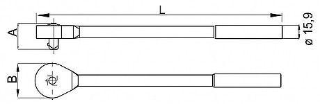 Catraca para Soquete 1/2 Belzer 204966BX