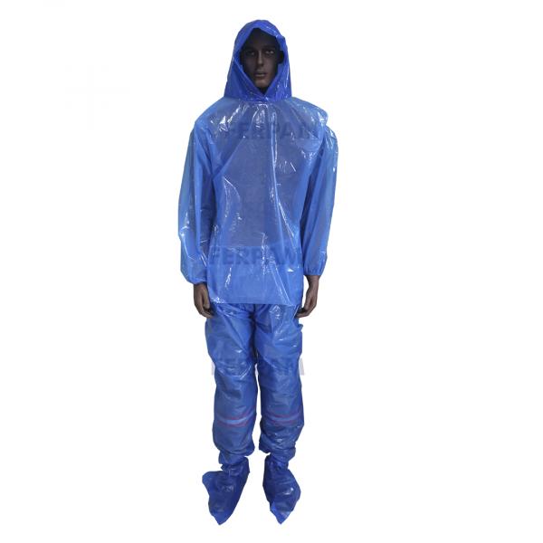 Conjunto Protetor/ Capa de Chuva Azul- Prevemax