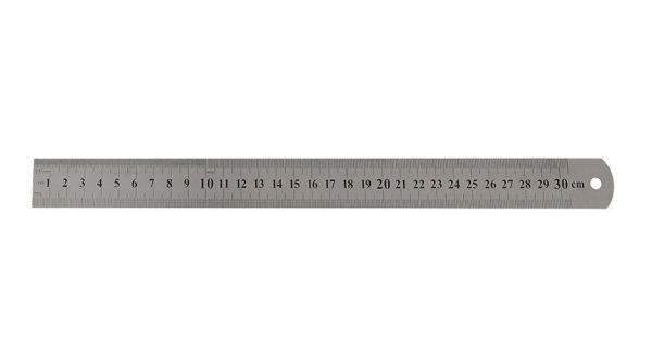 Régua/Escala de Aço Inox 30cm- Westen