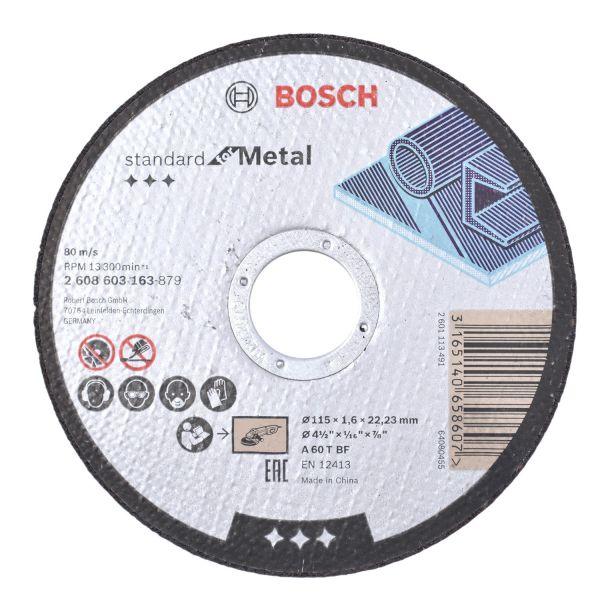 Disco Corte 4 1/2x1/16x7/8 Metal Bosch