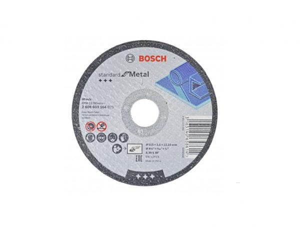 Disco Corte 4 1/2x3/32x7/8 Metal Bosch 3164