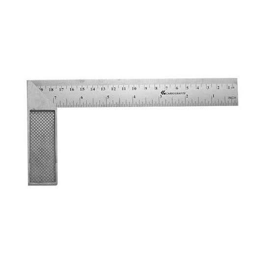 Esquadro de Aço Inox 8''- Carbografite
