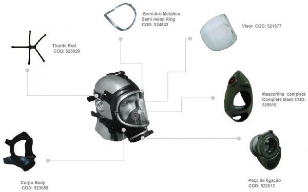 Máscara Facial Interia Linha Full Face- Air Safety