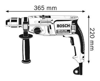 Furadeira de impacto Bosch GSB 20-2 RE - 220v