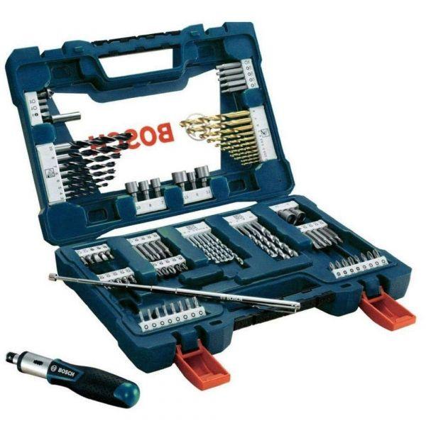 Jogo de Acessórios V-line Titanium com 91 peças- Bosch