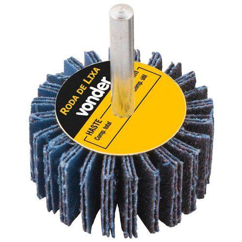 Roda De Lixa  30 X 20mm com Haste G.50- Vonder