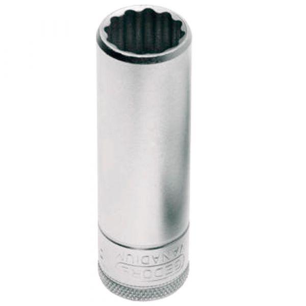 Soquete Estriado Longo 12mm com Encaixe 1/2