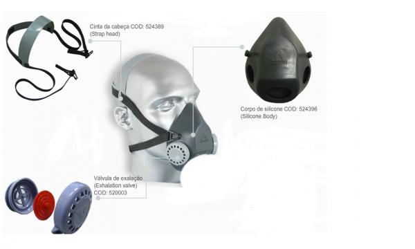 Máscara Semifacial Linha Air Tox II- Air Safety