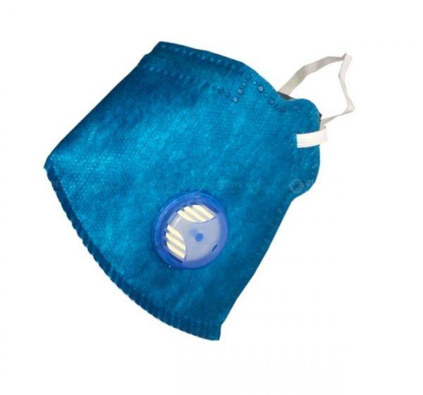 Máscara PFF1 Azul Royal  Maskface com válvula