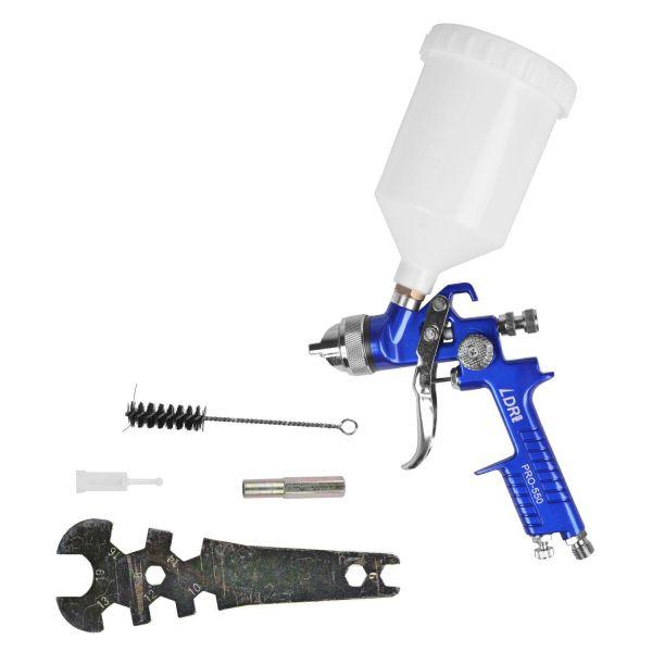 Pistola de Pintura HVLP gravidade com Kit de Limpeza 1.7mm PRO 550 LDR2