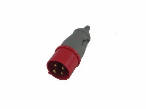 Plugue Vermelho 16A 3p+t 380v Soprano