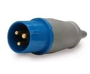 Plugue Azul 2P+T 220v 32A Soprano
