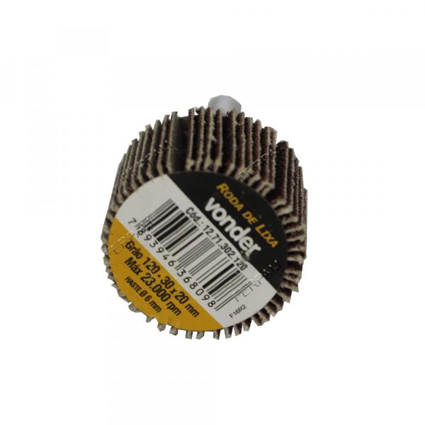Roda De Lixa 30 X 20mm com Haste Grao 220 Vonder 1271302220