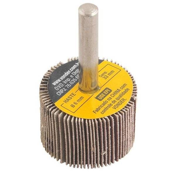 Roda De Lixa  30 X 20mm com Haste Grao 80 Vonder 1271302080