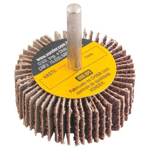 Roda De Lixa  40 X 20mm com Haste Grão 36 Vonder 1271402036