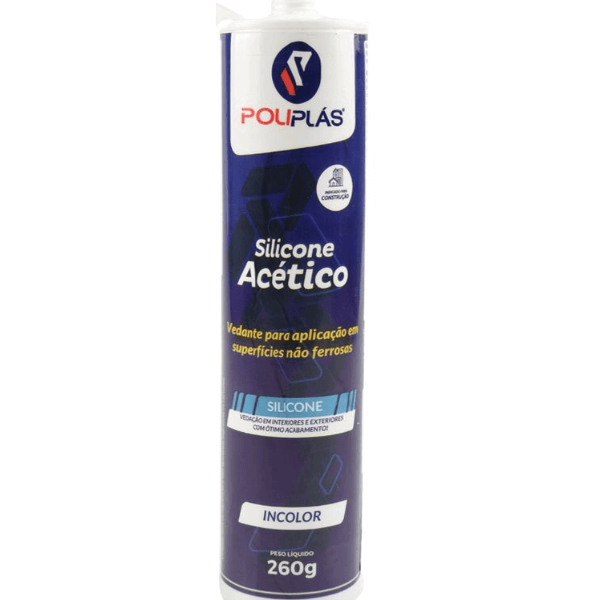 Silicone Acético Incolor 260 G Poliplás