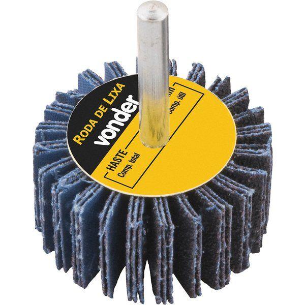 Roda De Lixa  30 X 20mm com Haste G.100- Vonder